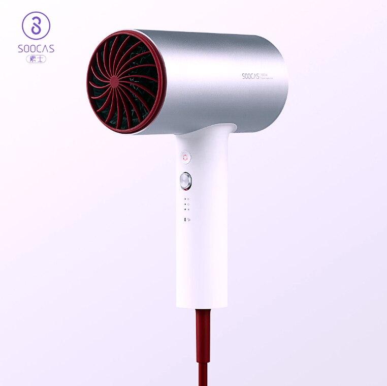 Original Xiao mi chaîne écologique Soocas cheveux Anion H3 séchage rapide cheveux outils 1800 W pour Xiao mi Kits maison intelligente mi conception sèche-cheveux
