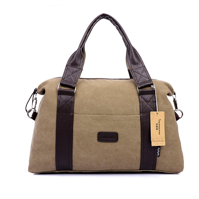 2016 Fashional High Capacity Canvas Travel Bags Mens Totes Shoulder Bags With Handles Stylish Bag