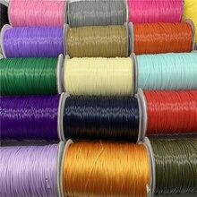10 ярдов 1 мм цветной вощеный хлопковый шнур вощеная нить веревка шнур ремешок Ожерелье Веревка для изготовления ювелирных изделий для браслета Шамбала