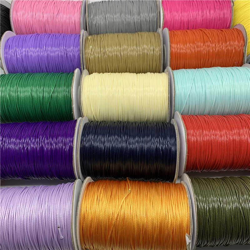 10 Thước 1 Mm Nhiều Màu Sắc Bông Sáp Dây Sáp Ren Dây Chuỗi Dây Đeo Vòng Cổ Dây Trang Sức Làm Cho Shamballa vòng Tay