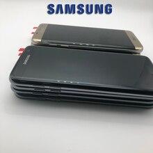 5,5 дюймов Новый SUPER AMOLED ЖК-дисплей Экран для SAMSUNG Galaxy S7 край Дисплей G935 SM-G935F ЖК-дисплей с рамка сенсорный дигитайзер сборки