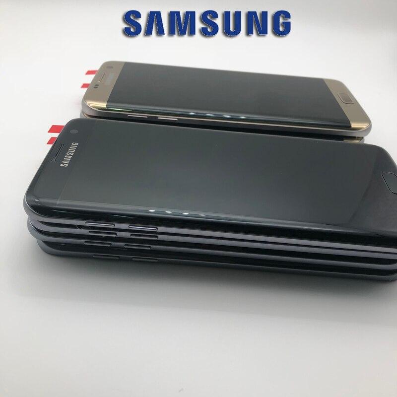5,5 zoll NEUE SUPER AMOLED LCD Screen für SAMSUNG Galaxy S7 rand Display G935 SM-G935F LCD mit Rahmen Touch Digitizer montage