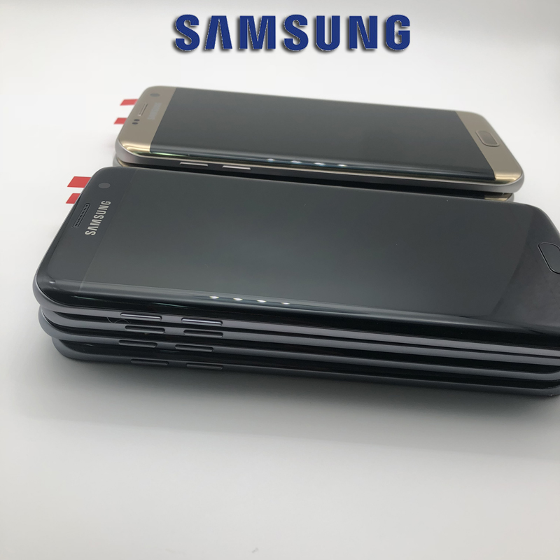 5,5 zoll NEUE SUPER AMOLED LCD Screen für SAMSUNG Galaxy S7 rand Display G935 SM-G935F LCD mit Rahmen Touch Digitizer montage