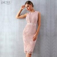 ADYCE Summer Women Bandage Dress Vestidos Verano 2019 New Tank Sexy Lace Mesh Sleeveless Bodycon Clubwears Celebrity Party Dress
