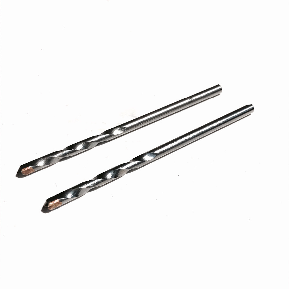 2PCS/set of 3mm TCT tipped triangle Shank impact drill Hammer Drill Bit for home decoration wall brick/tile/pavel hole drill