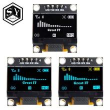 """0,96 дюймов IIC Серийный белый OLED дисплей модуль 128X64 IEC SSD1306 12864 плата с ЖК-экраном GND VCC SCL SDA 0,9"""" для Arduino черный"""