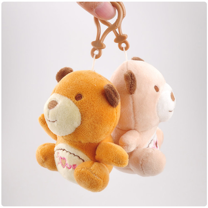 Tricolor Love Bear Cub Cute Plush Toy Filled Animal Bear Cubs Bag Keychain Love Bear Pendant Decoration Children 39 s Holiday Gift in Stuffed amp Plush Animals from Toys amp Hobbies