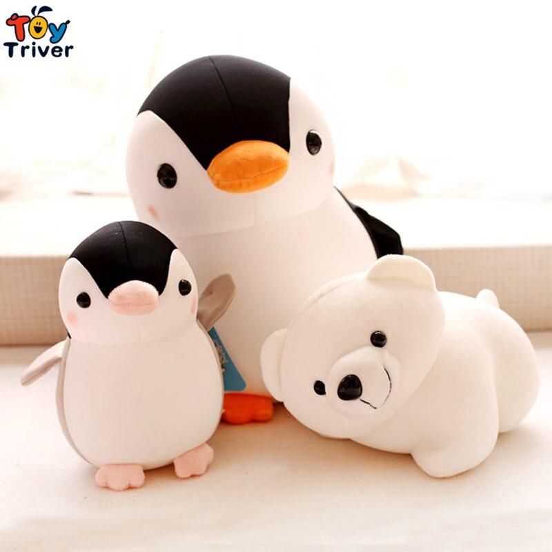 Kawaii Large Penguin Polar Bear Doll Foam Particles Soft Plush Toys