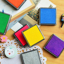 Optional Creative 3.5cm Ink Pad Scrapbooking Colorful Inkpad Stamp Sealing Decoration Fingerprint Stencil Card Making DIY Crafts homemade diy gradient color ink pad multicolour inkpad stamp decoration fingerprint scrapbooking accessories