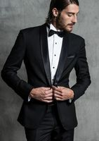 Latest Coat Pant Designs Black Shawl Lapel Italian Men Suit Formal Slim Fit Wedding Groom Blazer Custom Tuxedo 2 Piece Ternos J1