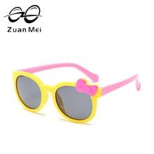 Zuan Mei Marca Polarizada óculos de Sol Das Crianças da Segurança Do Bebê  Das Meninas Dos Meninos de Design Óculos de Sol Para C.. 0a8de446de