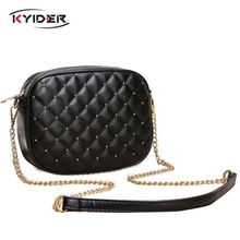 KYIDER Hot Sale Women Messenger Bags Brand Designer Shoulder Rivet Chain Strap Crossbody For Bolas Feminina