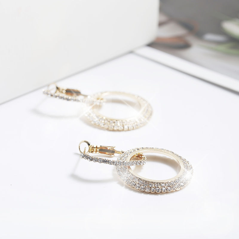 Simple Style Fashion Silver Gold Color Earrings for Women Square Round Geometric Hanging Earrings 18 Female Pendientes Jewelry 47
