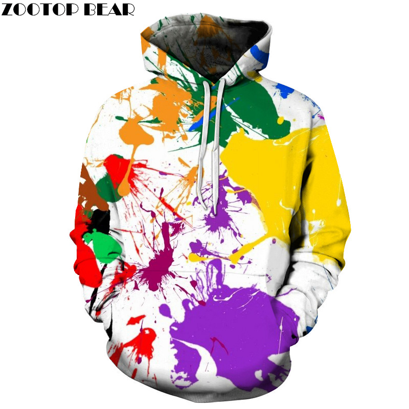 Paint Splatter Printed 3D Hoodeis Men Sweatshirts Unisex Pullover Fashion Tracksuits Boy Hoodie Novelty Streetwear Quality Coats