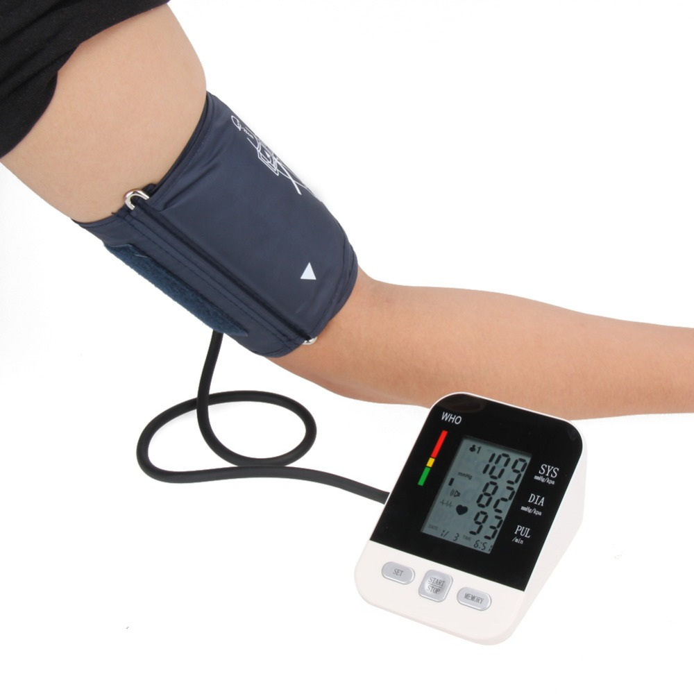 Full Automatic Pro Upper Arm Pressure Monitors Digital Blood Pressure Monitor health care bp Blood Pressure sphygmomanometer