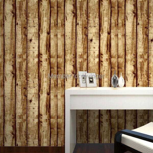 Levinger 3d Bois Panneau Mural Pas Cher Moderne Papier Peint 3d