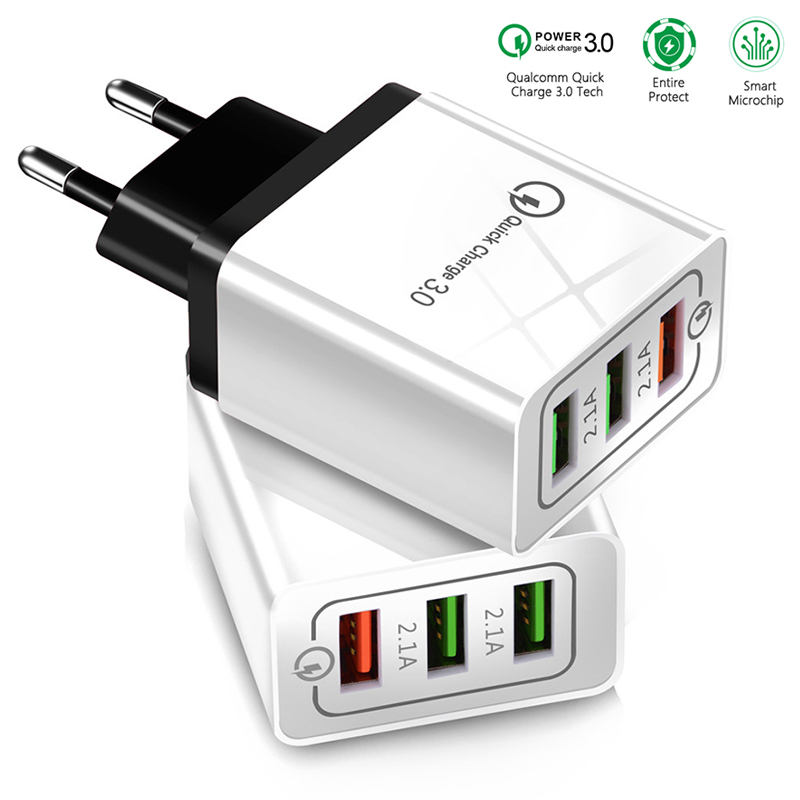 Fast charging for Samsug S8 Huawei Mobile Phone EU US Plug 5V 3A Charger for Iphone 7 8 X Xiaomi Universal USB Quick charge 3.0