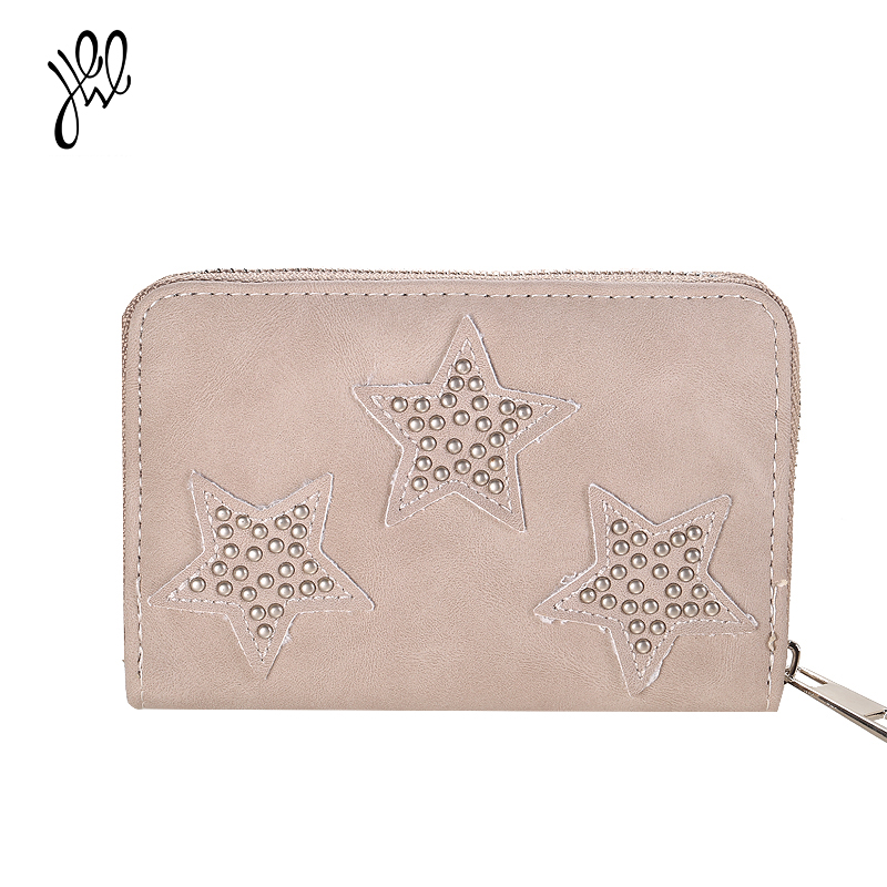 Mini Wallet Fresh Style PU Leather Lovely Women Wallet Small Star Short Wallet For Girls Card Holder Coin Purse Sweet Gift500695 youyou mouse korean style women wallet pu leather 2 fold phone package wallet multi function lovely big eyes pattern wallet