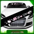 Стайлинга автомобилей отражающий мультфильм привет китти стикер лобового стекла наклейки для украшения аксессуары автомобиль отличительные знаки