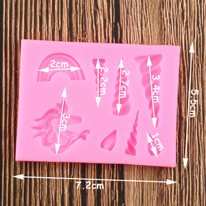 Image 2 - Cake Tools Unicorn Cloud Horn Ear Silicone Mold Decorating Cupcake Decorating Gumpaste Fondant Tool Mould Chocolate Candy Molds