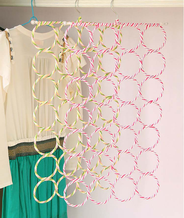 9/12/16/28 Holes Scarf Hanger Multifunction Scarves Display Hang Ties Belt Organizer Circle Storage Holder Bra Towel Hanger 1 PC