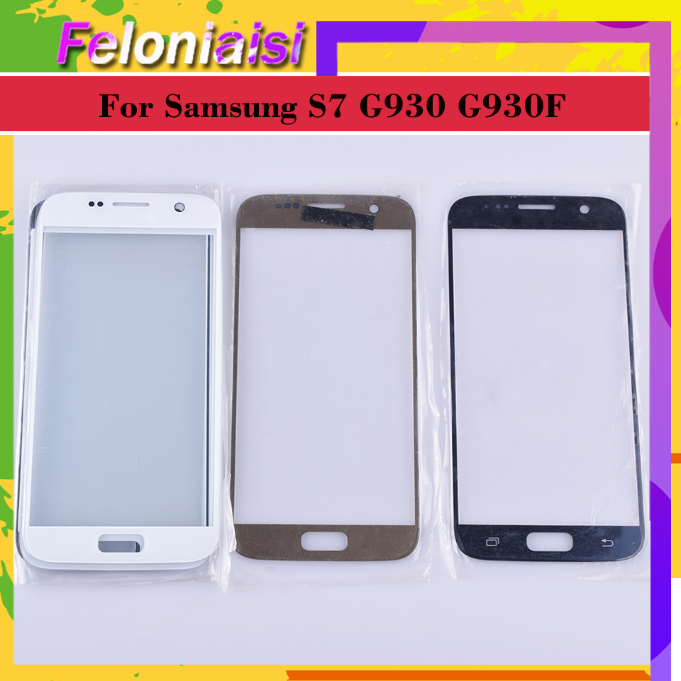 10Pcs/lot For Samsung Galaxy S7 G930 G930F SM-G930F SM-G930FD Touch Screen Front Glass Panel TouchScreen Outer Glass Lens NO LCD