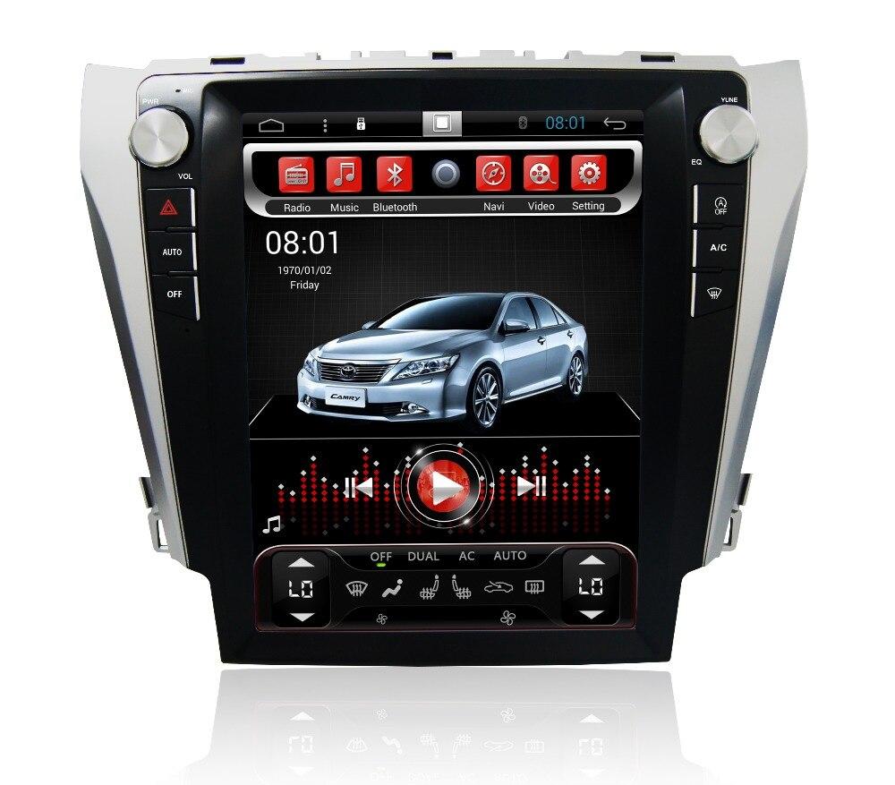 Navirider android 6.0 radio magnétophone 8 noyaux 2 gb RAM 32 gb ROM tesla vertical écran pour Toyota Camry 2012-2015 unités centrales BT
