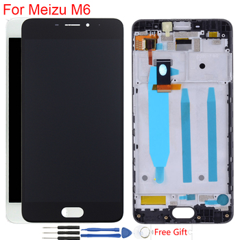 "Original Display 5.2"" Meizu M6 M711H LCD Display With Frame Touch Screen Digitizer Assembly Replacement 1280*720 IPS LCD"
