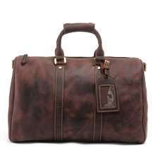 Men Genuine Leather Travel Bags Cow Leather Handbag Vintage Luggage Bag Large Capacity Travel Totes