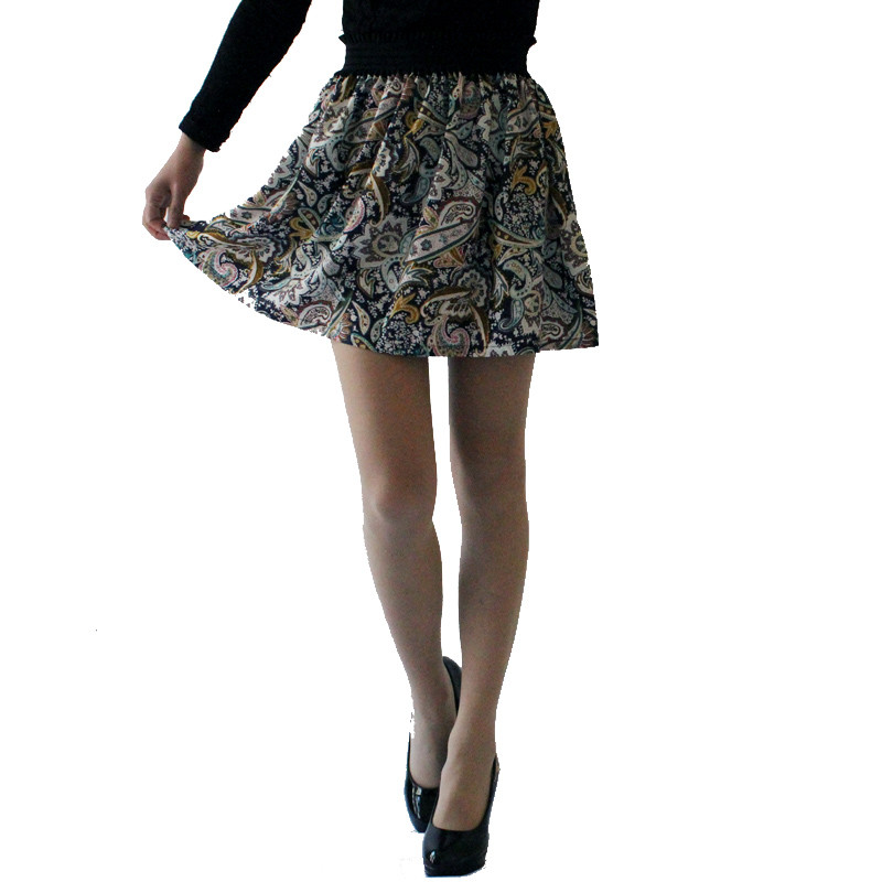 Fashion Pleated Retro High Waist Summer floral plaid Short Mini Skirts 14
