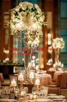 Бесплатная доставка 5 оружия, Кристалл Центральным/Высокий Столб Для Свадебные украшения/80 см высокие свадебные люстры