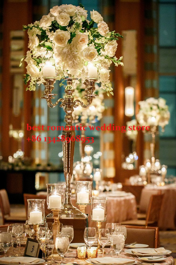 Free Shipment 5 Arms Siver Crystal Centerpiece Tall Pillar For Wedding Decoration 80cm