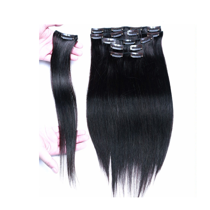 Remy virgin hair clip in extensions clip in brazilian hair remy virgin hair clip in extensions clip in brazilian hair extensions jet black clip in human hair extensions 70 g 220 g 10pcs on aliexpress alibaba pmusecretfo Images