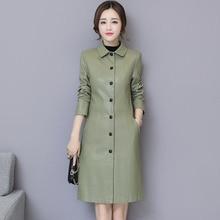 Frauen Aus Echtem Leder Graben Herbst 2021 Neue Winter Weibliche Schaffell Mantel Split Leder Oberbekleidung Koreanischen Stil Heißer Verkauf