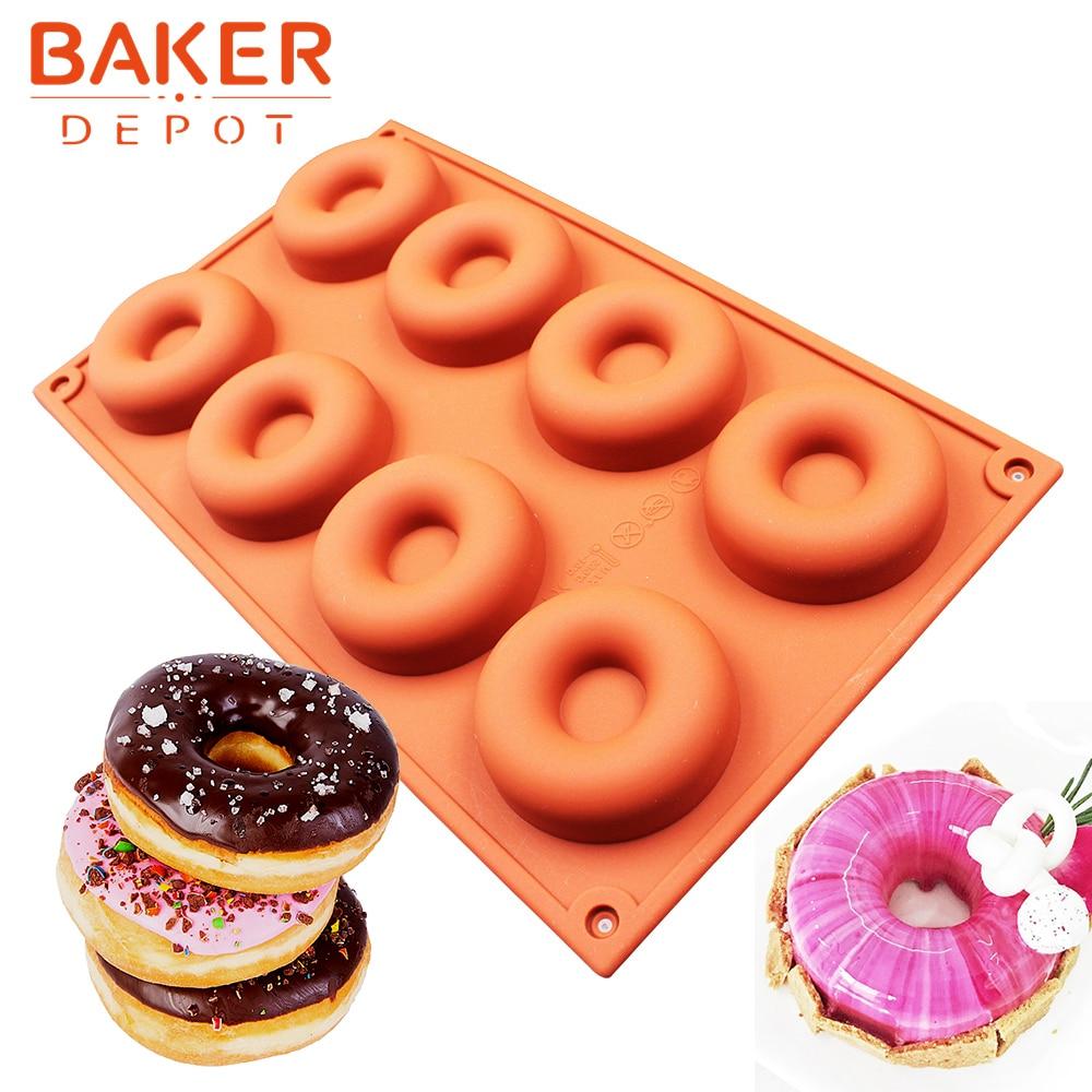 σιλικόνης ντόνατ μούχλα muffin πουτίγκα πάγου μούχλα σιλικόνης κέικ ψησίματος μπισκότο μούχλα μπισκότο ψωμί ζύμη μούχλα κύκλος diy Χριστούγεννα