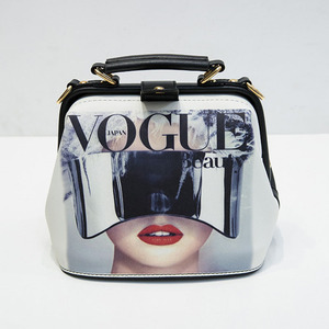 Image 2 - Fashion Cartoon Pattern Pu Leather Crossbody Bags for Women Trending Female Shoulder Handbags Doctor Tote