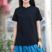 Summer&Spring black/white short sleeve women cotton&linen tai chi suit zen nun shirts lay uniforms wushu kung fu T-shirts