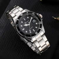Relojes GONEWA para hombre, reloj de pulsera analógico de acero inoxidable con fecha militar de lujo para hombre