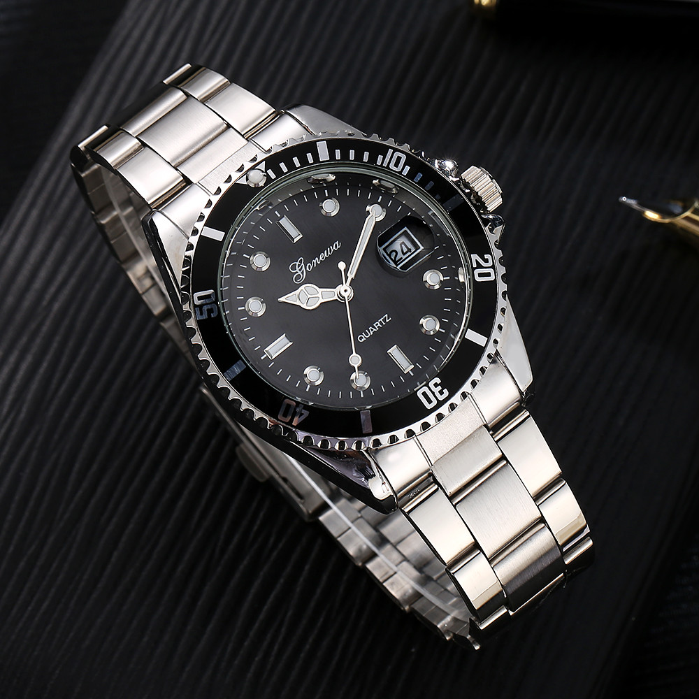 Relojes GONEWA Men Fashion Military Stainless Steel Date Sport Quartz Clock Analog Wrist Watch Luxury Business Relogio Masculino