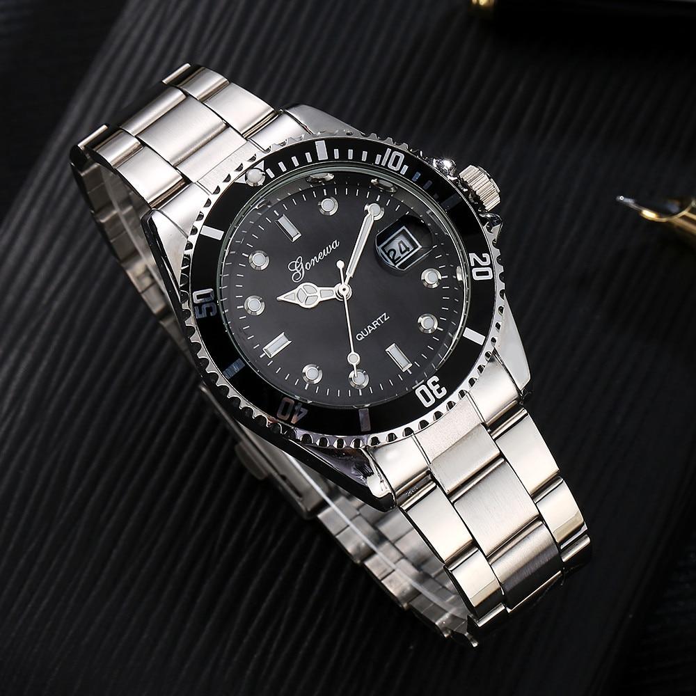 Relojes GONEWA Men Fashion Military Stainless Steel Date Sport Quartz Clock Analog Wrist Watch Luxury Business Relogio Masculino
