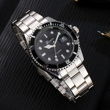 Relojes GONEWA Men Fashion Military Stainless Steel Date Sport Quartz Clock Anal