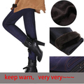Free Shipping Winter Thicken Cotton 4 Size Large Faux Jeans Leggings Women Warm Slim Pencil pants