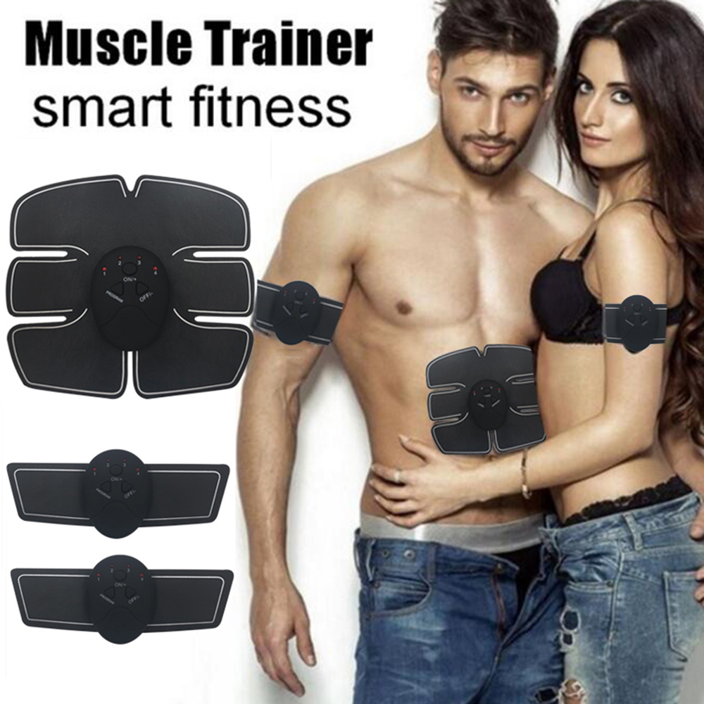 Electric Muscle Stimulator Abdominal Stimulation Muscle Exerciser Training Body Slimming Machine Fat Burning Fitness Massager