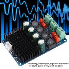 лучшая цена HF198 Dual Amplificador TPA3116 PBTL Dual Channel 2x100W Digital Power High Power Amplificador Board plastic