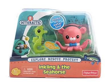 original Octonauts action figures Inkling & the Seahorse child Toys 6-8cm free shiping by spsr 1 set of chinese edition original octonauts oktopod splelset figure toy with original box child toys