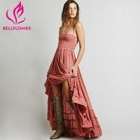 Bellflower Summer Beach Dress 2019 Ball Gown Sleeveless People Sexy Dress Bohemia Backless Party Hippie Bandage Dress Vestido