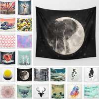 Fantasy Universe Space Tapestry Print Moon Star Wall Hanging Carpet Home Decor Living Room Table Cloth Bedroom Wall Tapestries