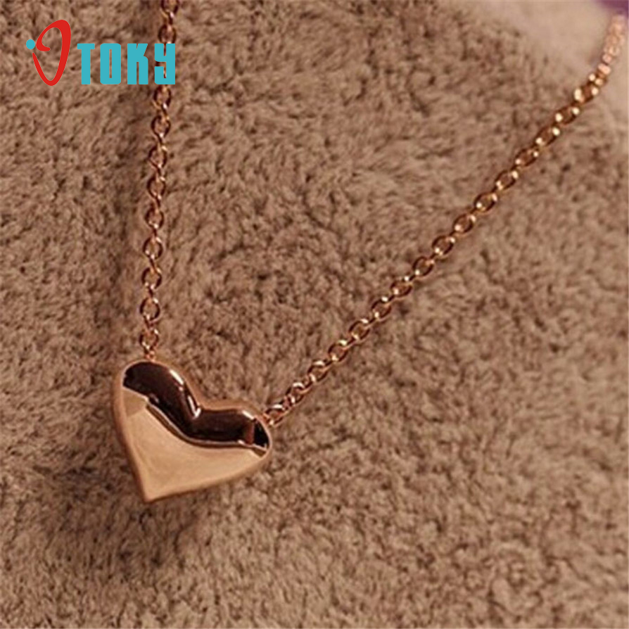OTOKY Gussy Life Special Desig Women Gold Heart Bib Statement Chain Pendant Necklace Jewelry  mr3