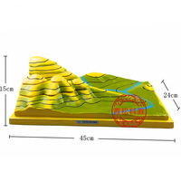 Removable Resin Contour map Geography teaching equipment For high school student educational Tools Kid's Learning gifts