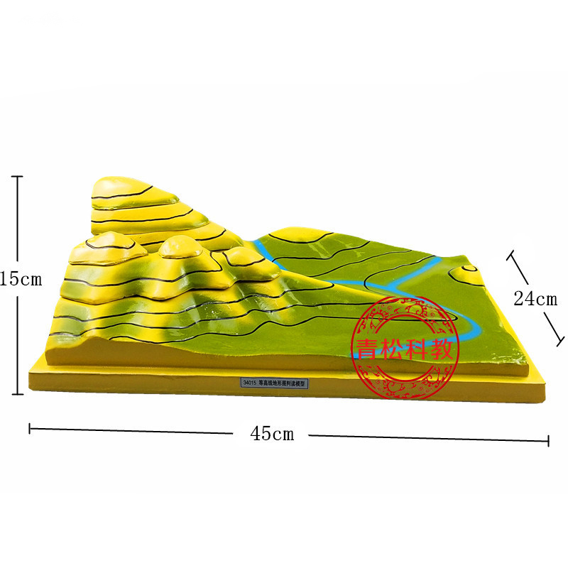 Removable Resin Contour map Geography teaching equipment For high school student educational Tools Kids Learning gifts